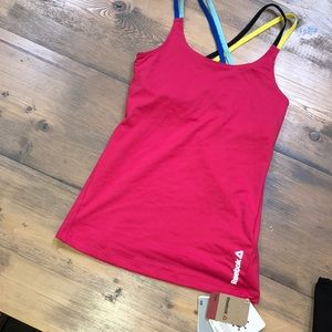 NWT Reebok multicolor tank with built in bra